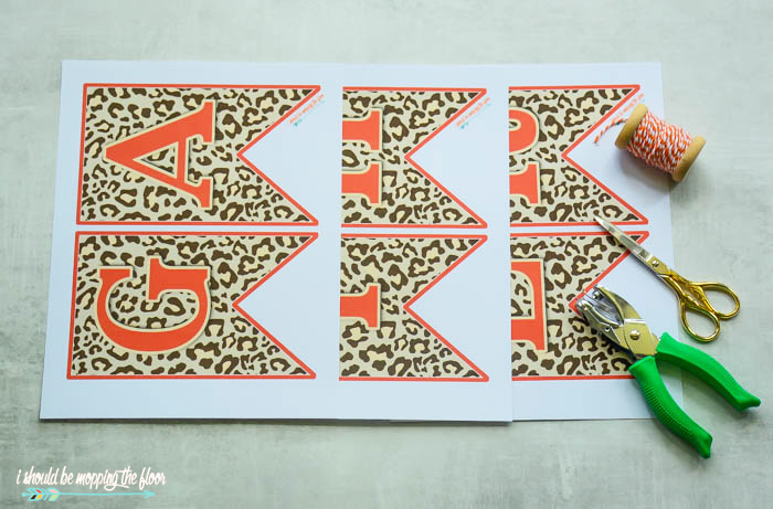 photo about Fall Banner Printable named Leopard Print Drop Banner i should really be mopping the area