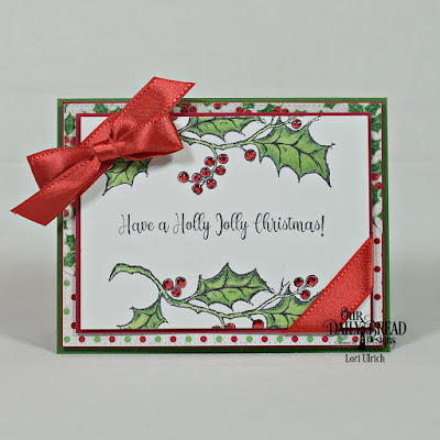 Our Daily Bread Designs Stamp Set: Holly Leaves, Custom Dies: Curvy Slopes, Pierced Rectangles, Rectangles, Paper Collection: Holly Jolly