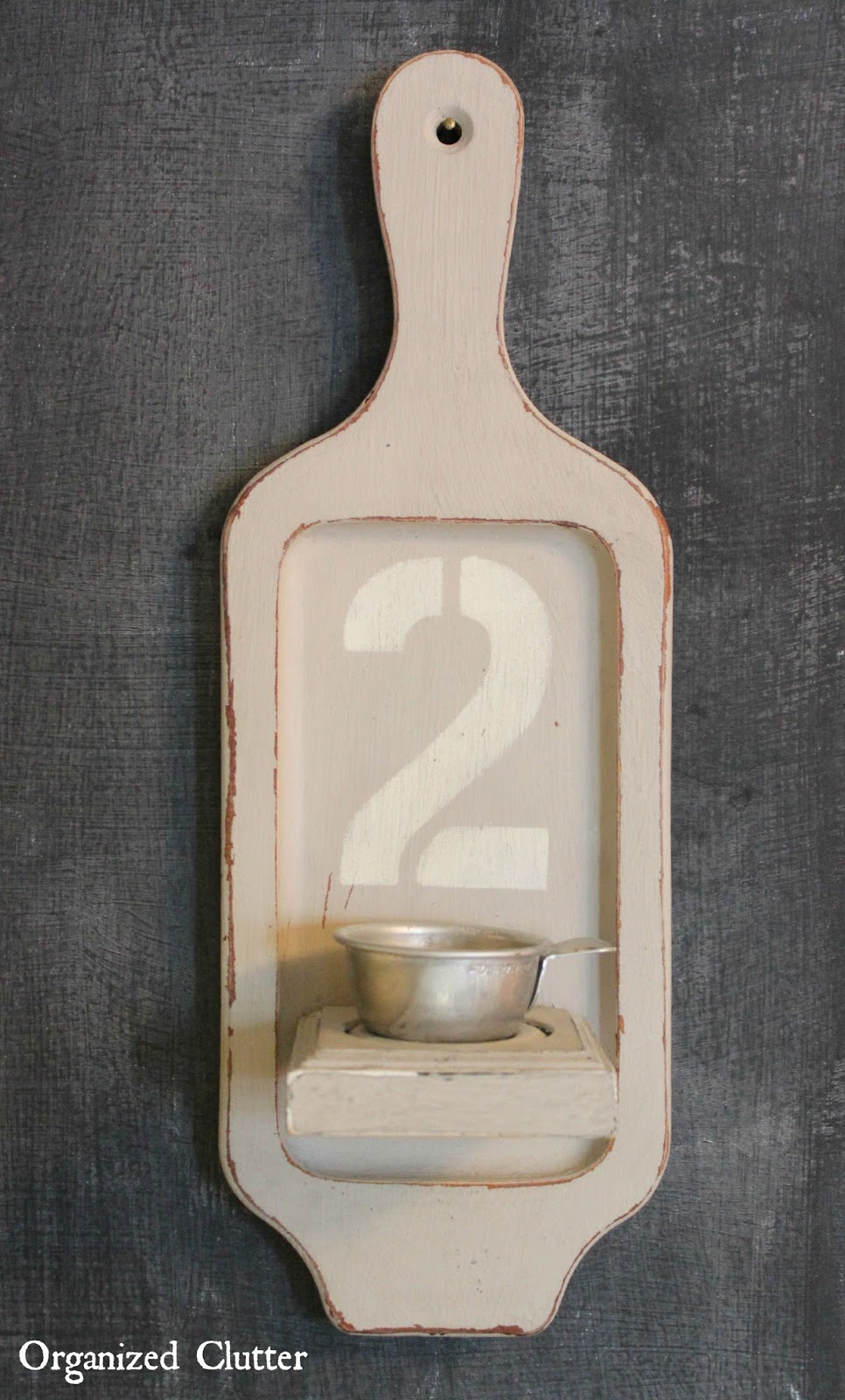 Decoart Americana Chalky Finish Paint Tea Light Holder www.organizedclutter.net