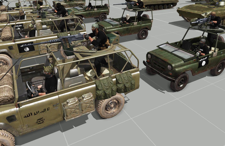 弱者の日記^^イラクとシリアの反政府組織を実装の Arma 3 アドオンにシリア軍が追加