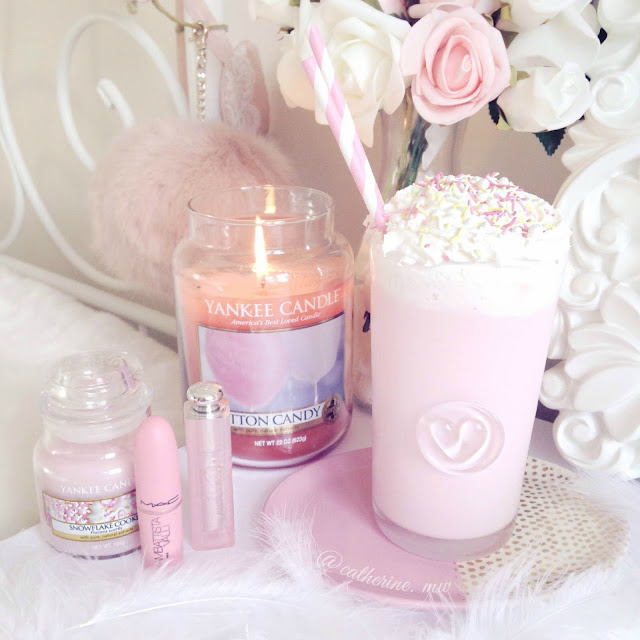 Strawberry Milkshake & Yankee Candle Cotton Candy