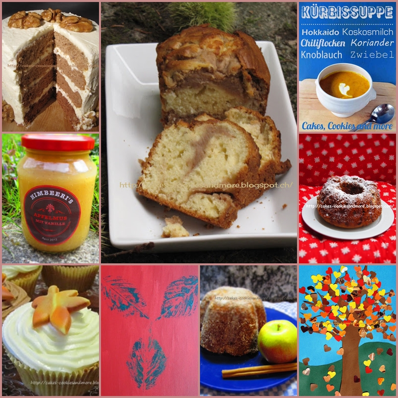 Herbstzeit auf Cakes, Cookies and more