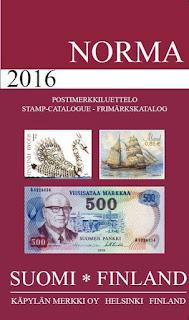 postimerkkikatalogi Suomi 2016