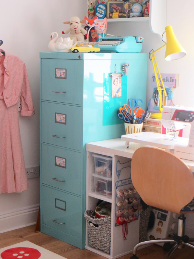 Ashley's beautiful sewing space!