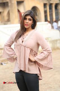 Telugu Actress Aditi Singh Stills in Leather Pants at Nenu Kidnap Iyanu Movie Press Meet  0050.JPG