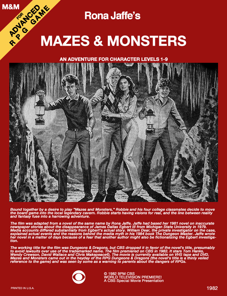 wizards never wear armor mazes amp monsters film review