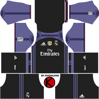 Real Madrid Kits 2016/2017 - Dream League Soccer 2016 & FTS15