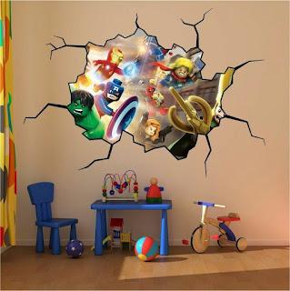 ديكورات غرف نوم اطفال ورسومات شخصيات كرتونية على الجدار