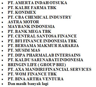 daftar perusahaan yang mengikuti job fair Purwokerto banyumas