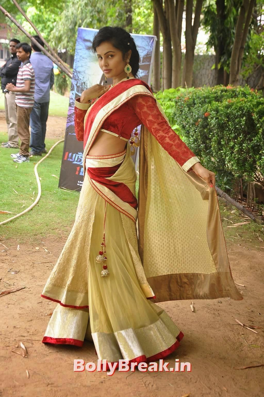 Hashika Dutt Latest Stills, Actress Hashika Dutt hot Pics in low waist saree