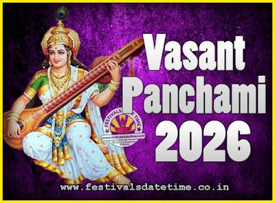 2026 Vasant Panchami Puja Date & Time, 2026 Vasant Panchami Calendar