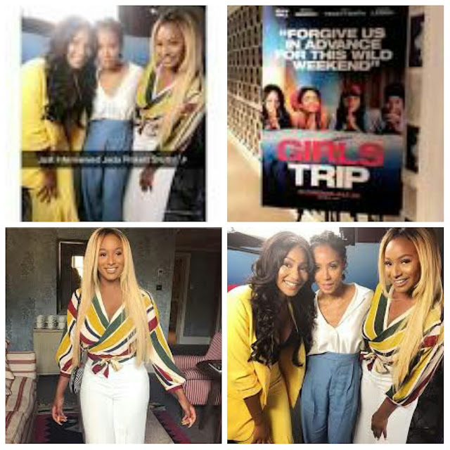 See this photo of DJ Cuppy's interview with Jada Pinkett Smith