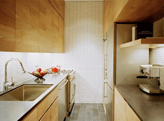 Tips on designing a kitchen minimalist house Model of Double Line