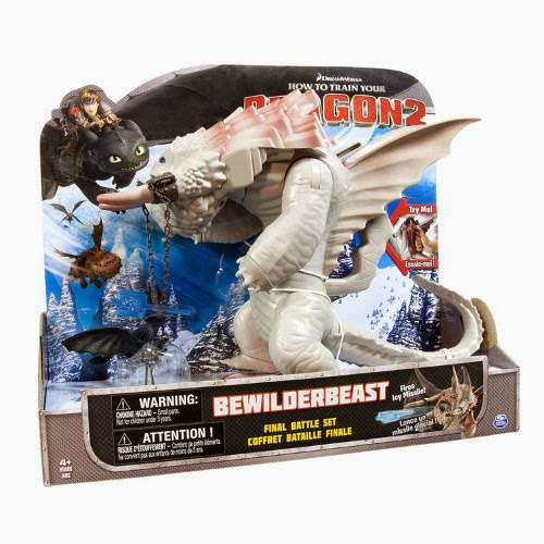 TOYS : JUGUETES - COMO ENTRENAR A TU DRAGON 2   Muñeco | Figura Bestibestia  How to Train Your Dragon 2 Bewilderbeast Final Battle Set  Producto Oficial 2014 | Spin Master | Bizak | A partir de 4 años