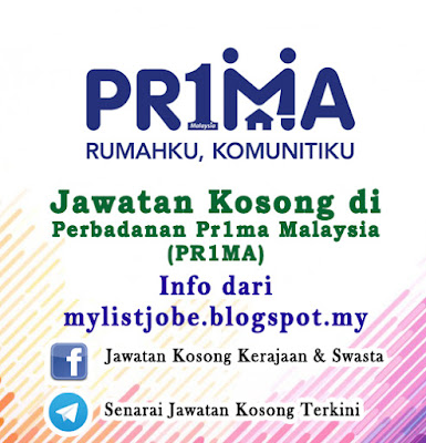 Jawatan Kosong di Perbadanan Pr1ma Malaysia (PR1MA)