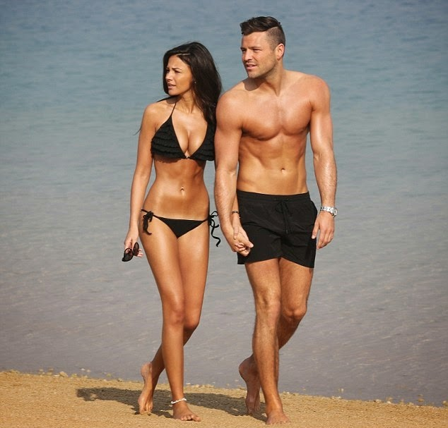 Love Is In The Air With Former Towie Star Mark Wright And His Gorgeous Beauty Actress Fiancée Michelle Keegan Lovebirds Were Spotted Dubai