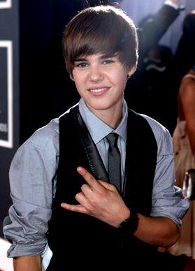 Foto de Justin Bieber sonriendo