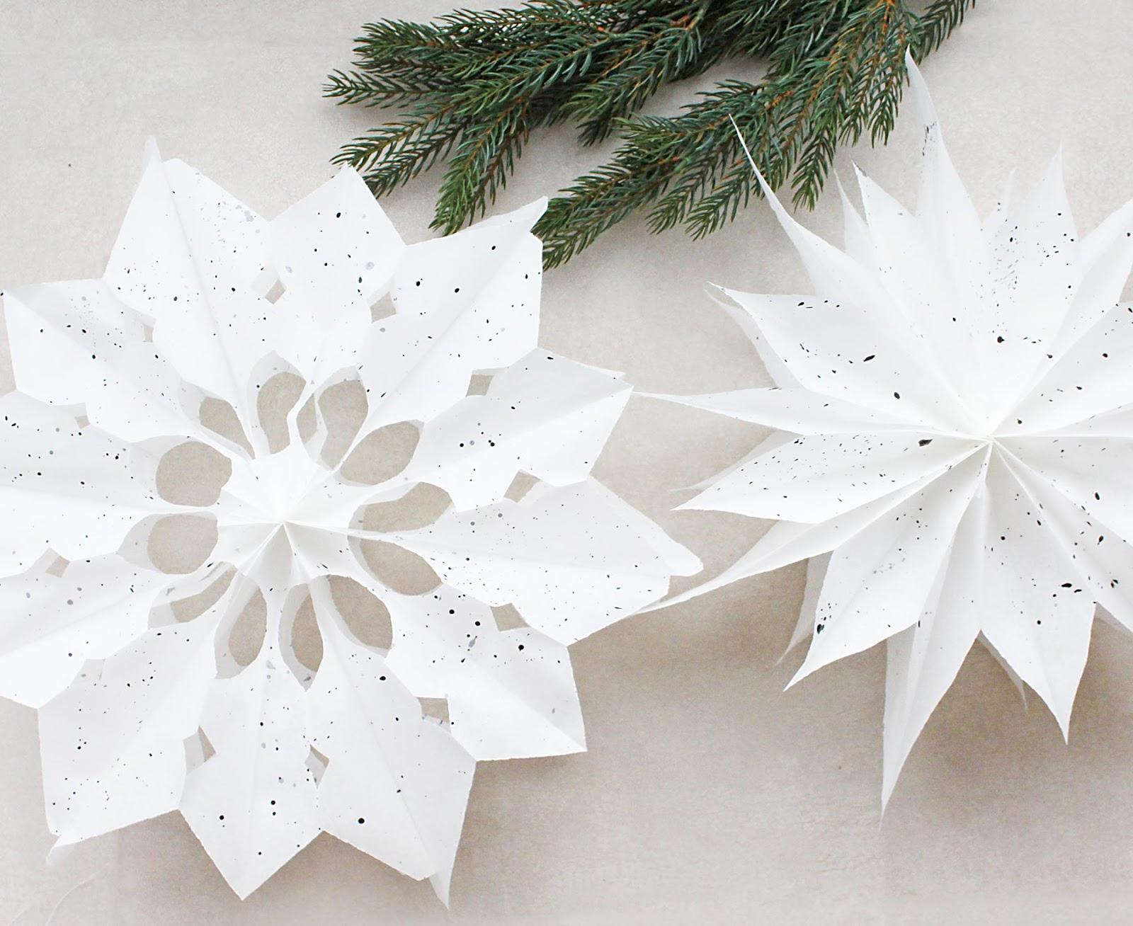basteln einer super schnellen Weihnachtsdeko in Form von Sternen