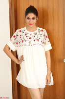 Lavanya Tripathi in Summer Style Spicy Short White Dress at her Interview  Exclusive 190.JPG