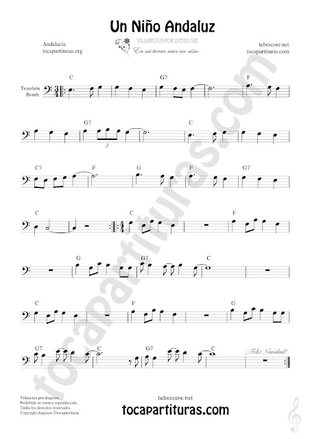 Un Niño Andaluz Sheet Music for Trombone & Euphonium Music Scores