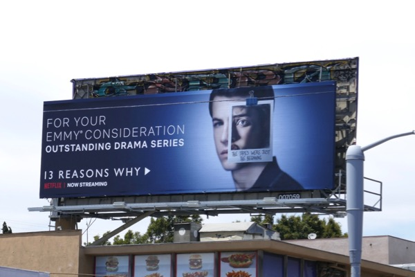 13 Reasons Why 2018 Emmy FYC billboard