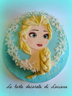 kue ultah Elsa yang sangat cantik