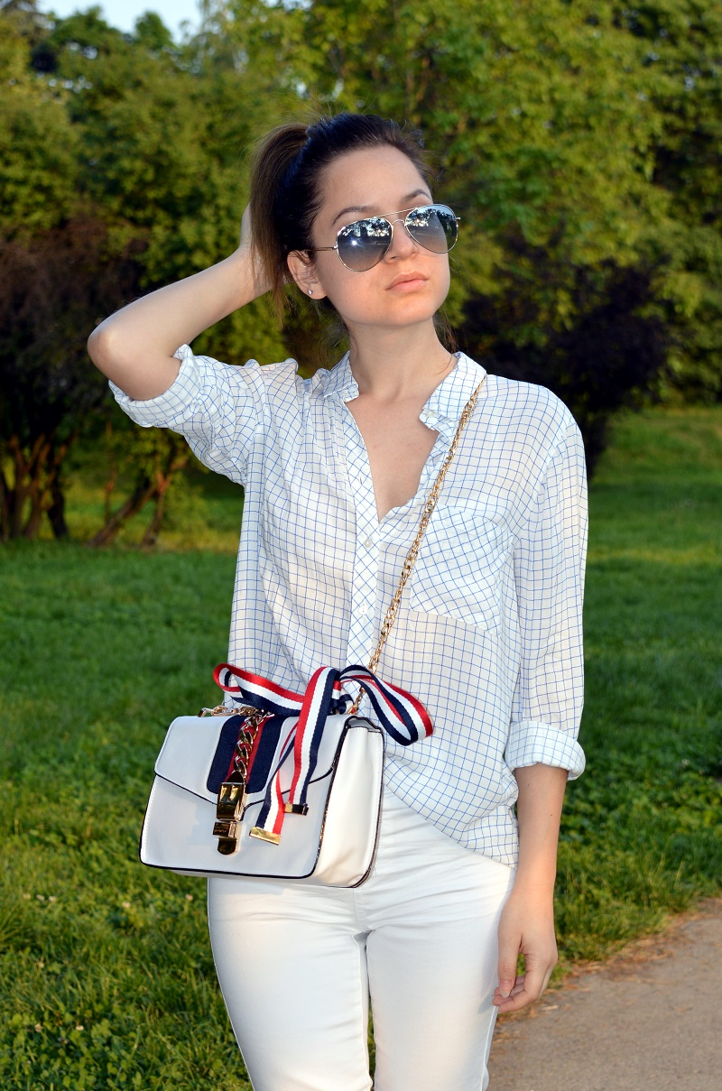 white cross body bag outfit