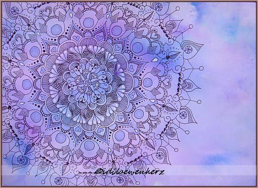 Idiloewenherz Wurfel Mandala