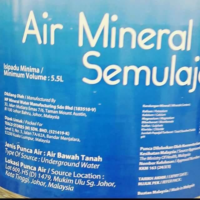 Tips Mudah Kenal Pasti Air Mineral dalam Botol
