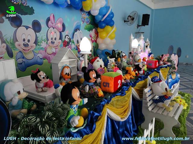 Ornamentação de mesa Baby Disney para festa de aniversário de criança de 1 ano