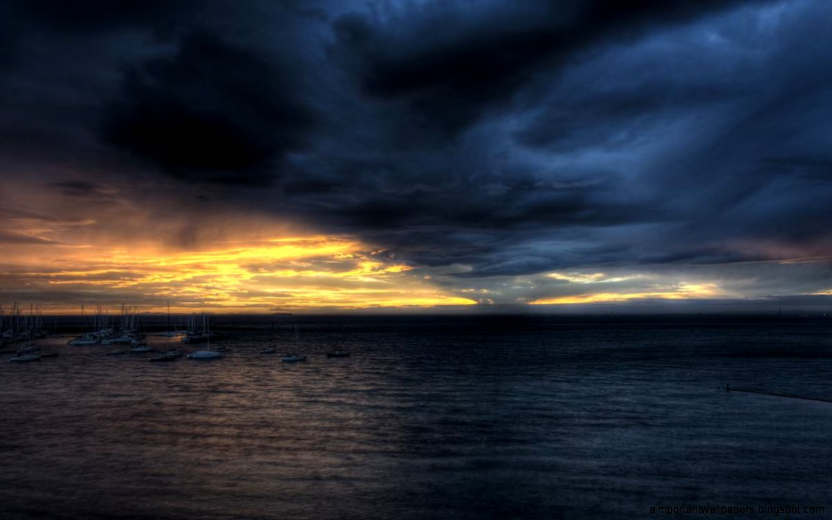 sunset clouds and ocean wallpaper - photo #8