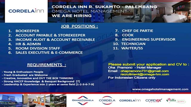 Lowongan kerja hotel Palembang