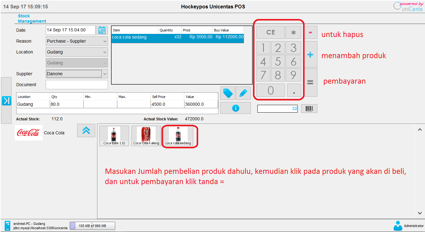 Software program aplikasi kasir gratis unipos - penjualan menu