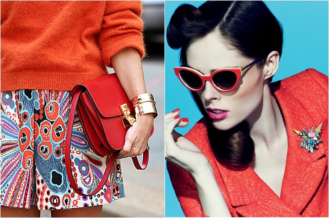 how to wear orange red in spring