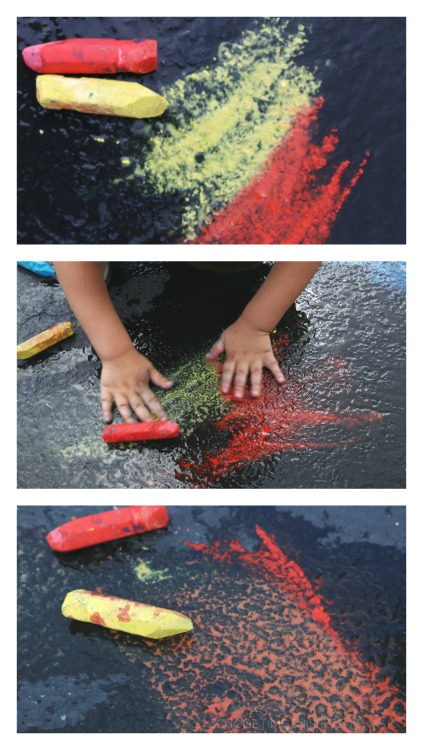 wet chalk color mixing