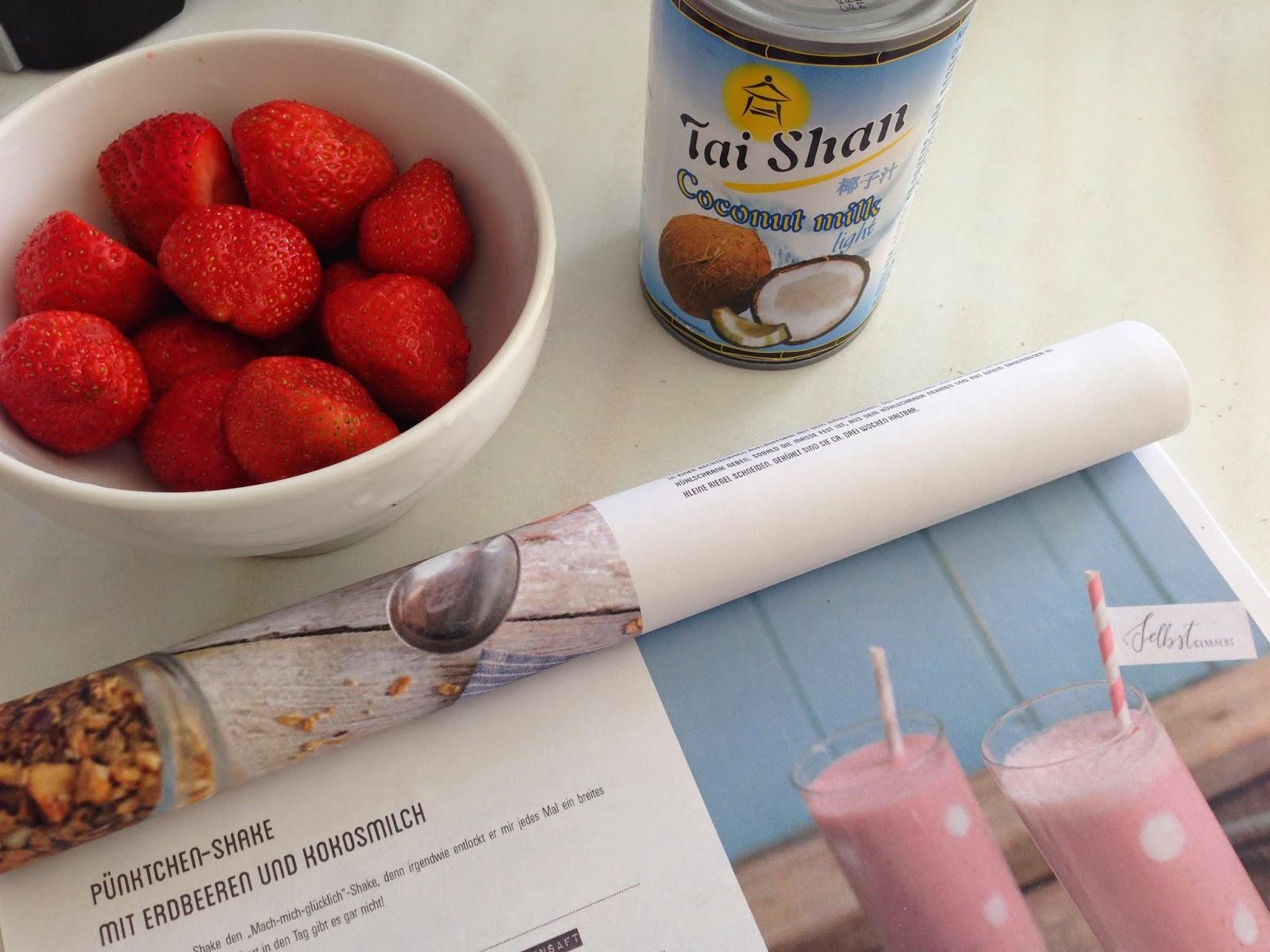 Erdbeer-Kokos-Quark Shake: Die Zutaten