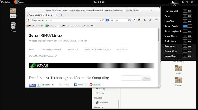 Conheça o GNU/Linux Sonar uma distribuição focado em pessoas com deficiências!