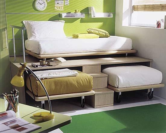 Dormitorio para 3 camas triples bedrooms for 3 - Habitacion 3 ninos ...