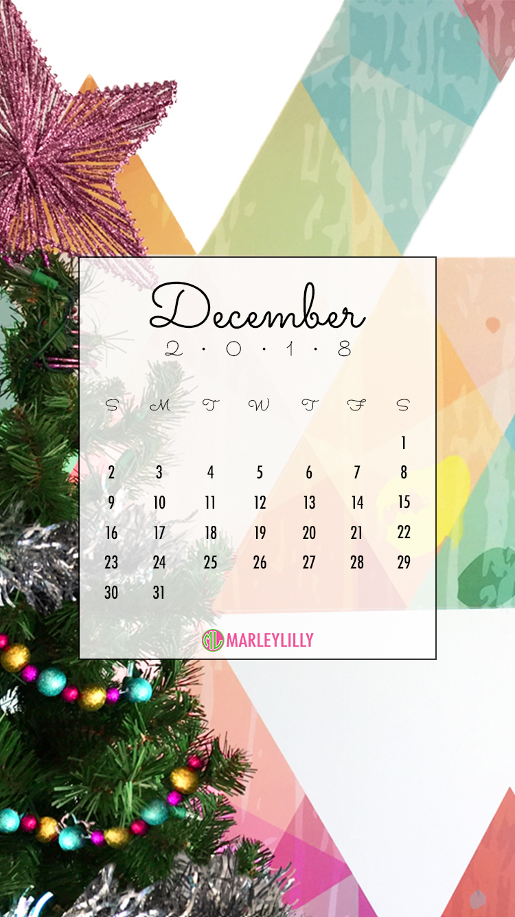 cute mobile background for december with christmas tree