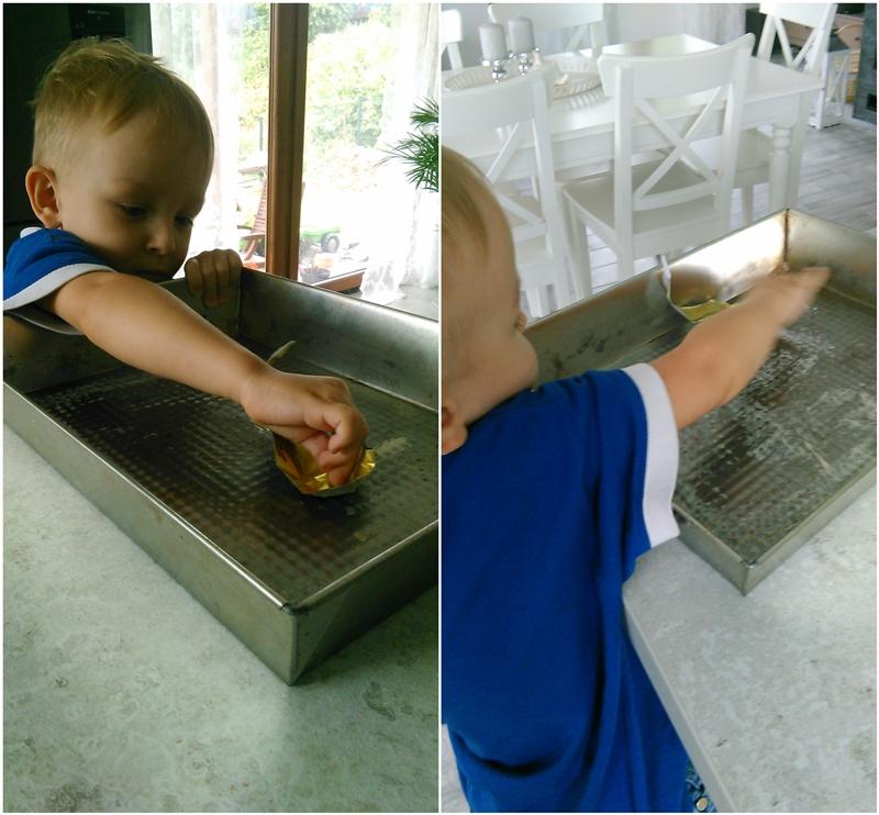 ciasto miodowe, pyszne ciasto, szybkie ciasto, ciasto z miodu, syn pomaga w kuchni