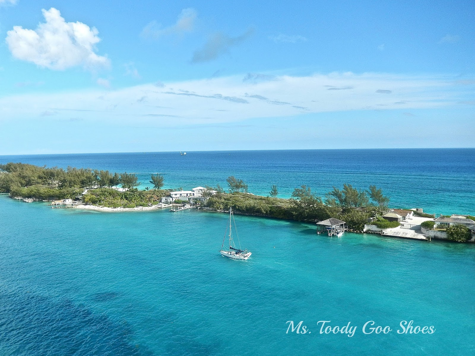 Paradise Island from Norwegian Breakaway Cruise Ship  --- Ms. Toody Goo Shoes