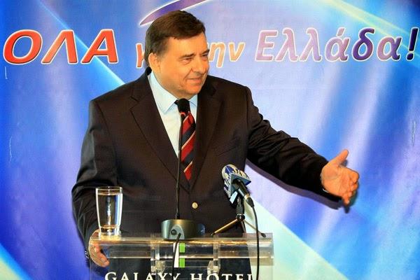 Επιστρέφει στο πολιτικό παιχνίδι ο Καρατζαφέρης, με το 2.7% στις ευρωεκλογές