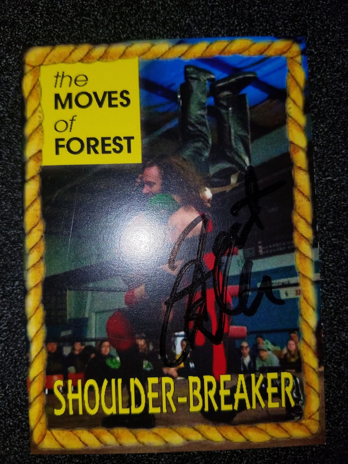 The Wrestling Insomniac: Signed Trading Cards: The Iconic