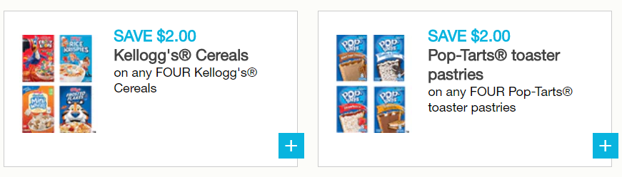 photograph about Pop Tarts Coupons Printable named Help save $4.00 upon Kelloggs Cereals and/or Pop-Tarts with contemporary