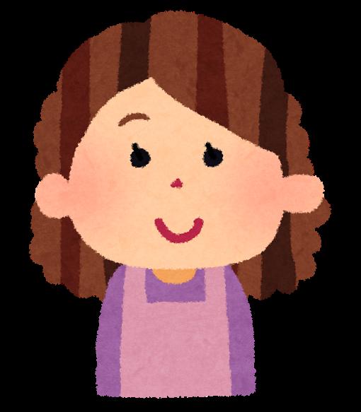 お母さんのイラスト「笑った顔・怒った顔・泣いた顔・笑顔」 | かわいいフリー素材集 いらすとや