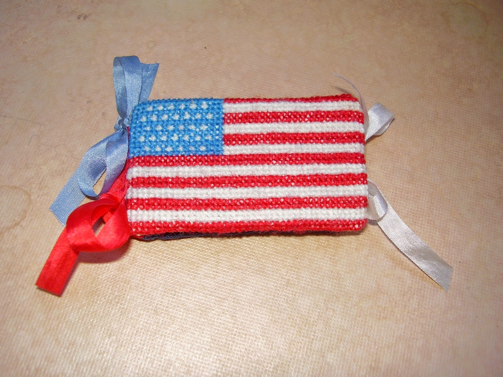 Needle book of an 1858-9 American Flag.
