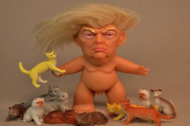 Boneka Troll Presiden Donald Trump