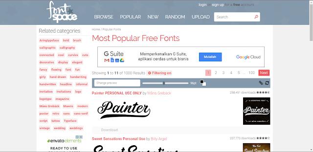 5 Situs Untuk Mendownload Font Gratis