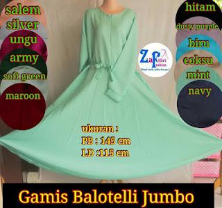 gamis baotelli umbrella polos jumbo
