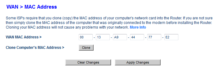 How to clone Your Computer MAC Address On Belkin Router